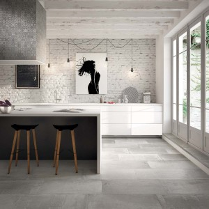 Modena Concrete | 3 CLIFF Natural 16x32 Rect Wall Scene 11