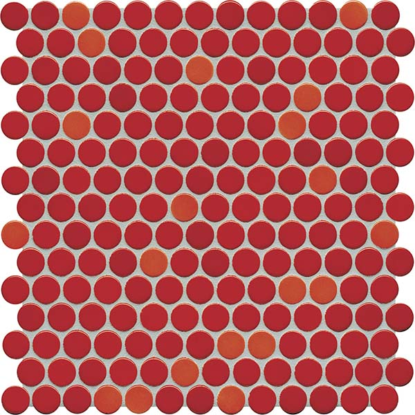 Sonoma Penny Rounds | CORAL-RED Glossy