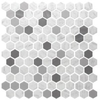Fusion Onix Hex | Blend Metal Carrara